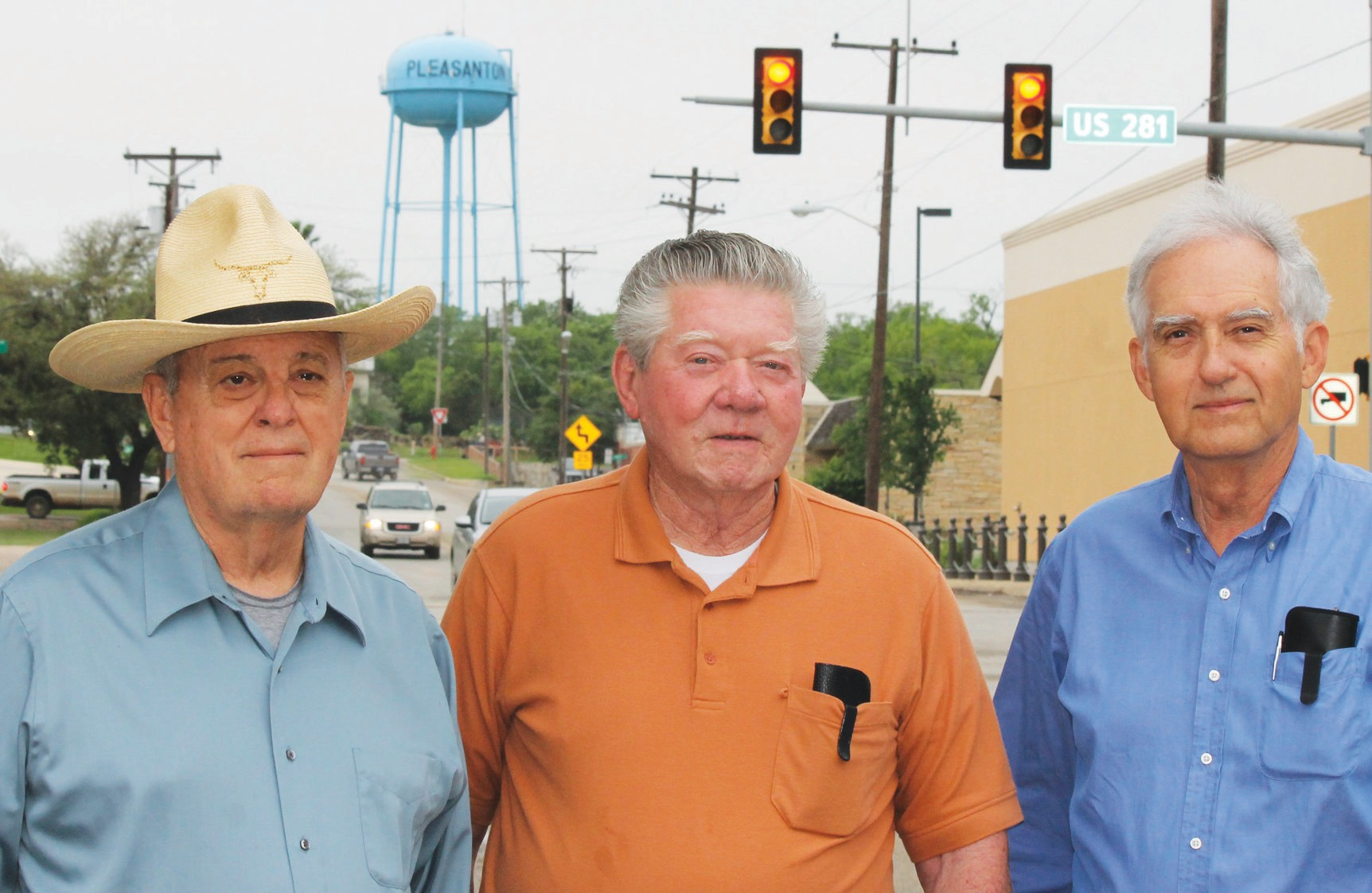 From left, area geologist Arthur Troell and Evergreen Underground Water Conservation District directors, Larry Fox and Jay Troell. The trio addressed the 84th Legislature regarding concerns about Texas House Bill 30 and its possible ramifications regarding the future of underground water in this area.
