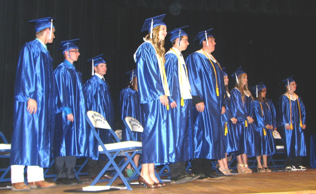 McMullen County Seniors stand ready to receive their diplomas last Saturday, May 30.