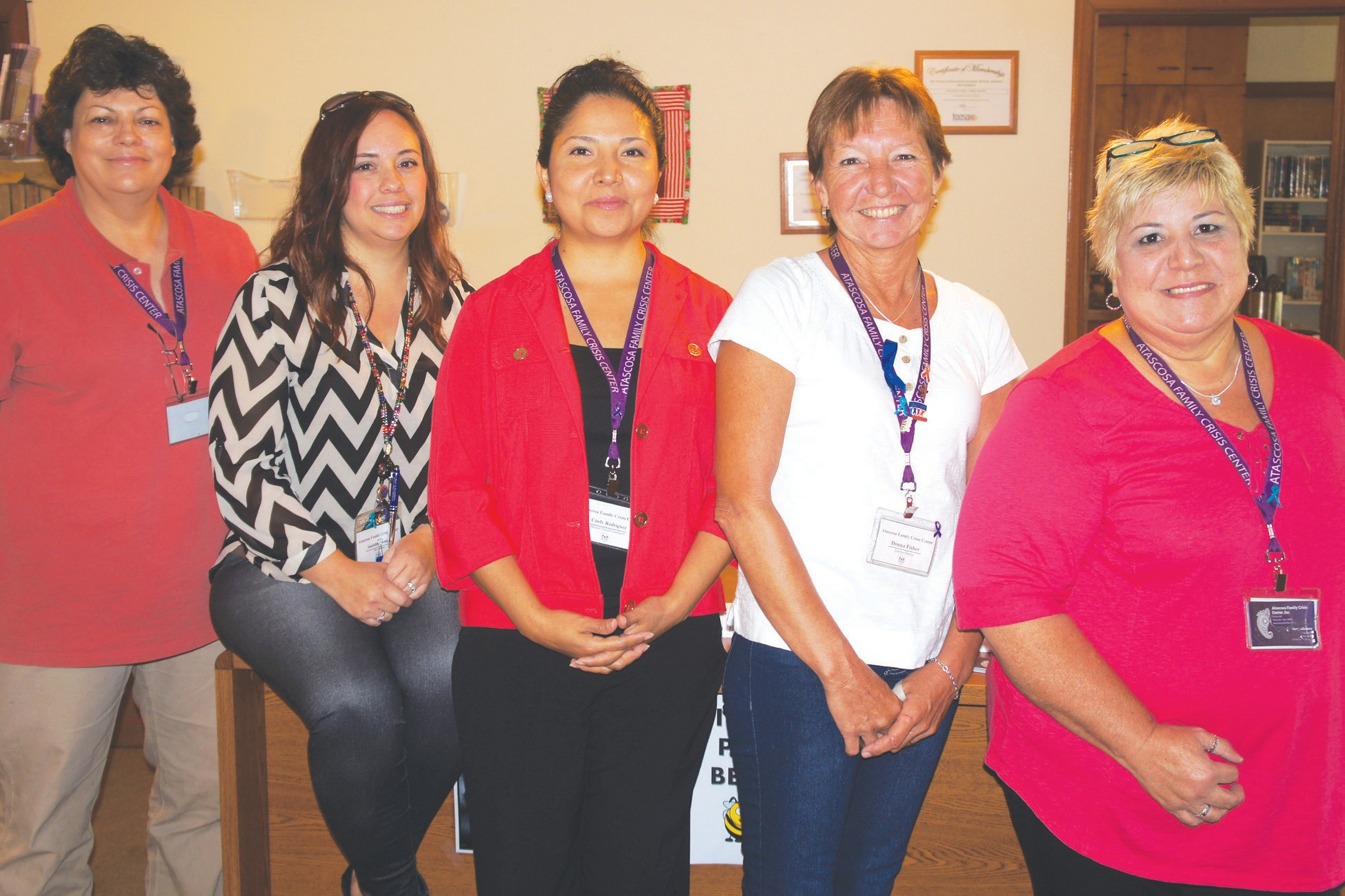 Pictured are, left to right: Lisa Krejci, Imelda Gomez, Cindy Rodriguez, Donna Fisher and Terry Villanueva. Not pictured is Shawnene Edmondson.