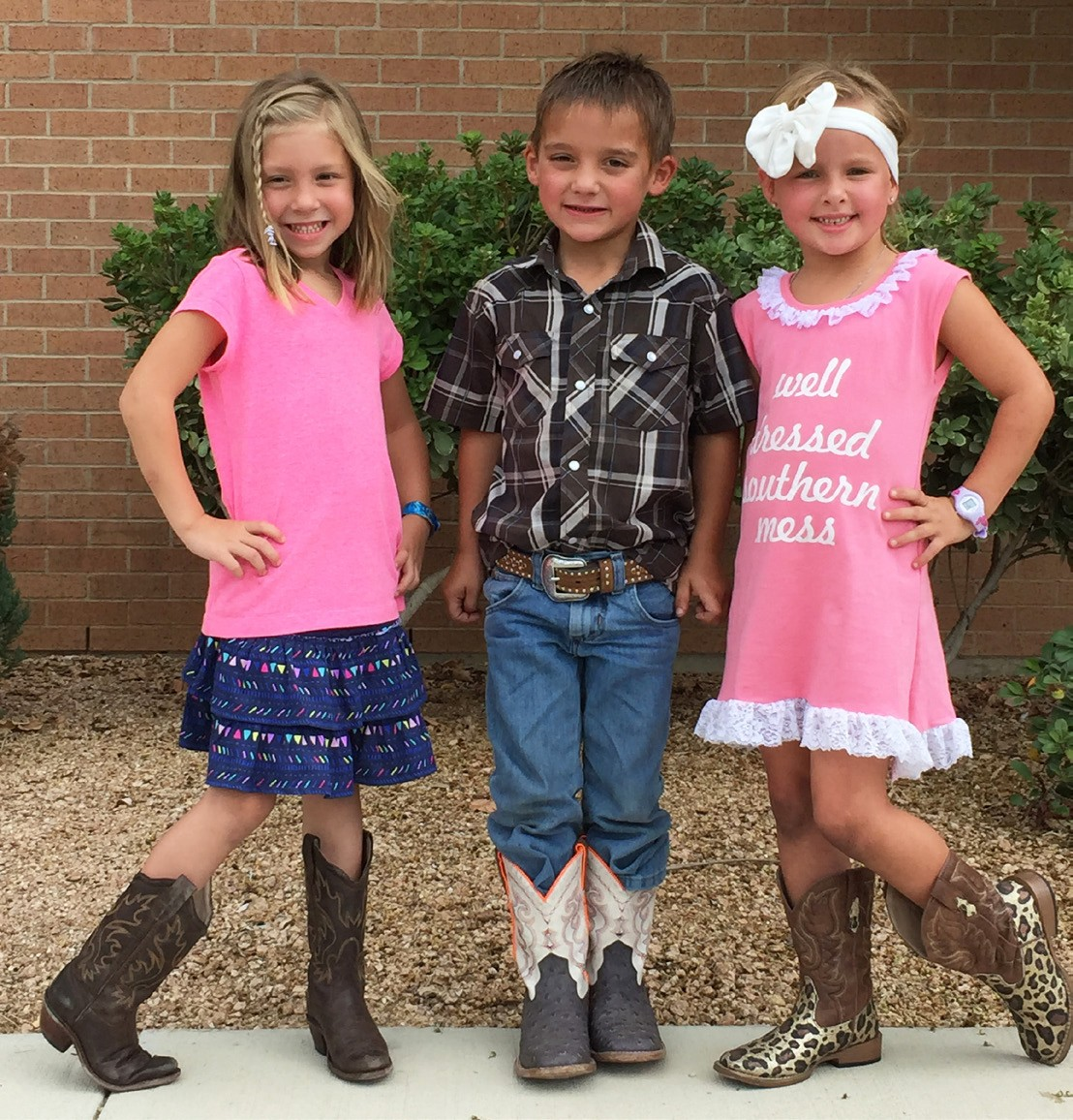 These boot-wearing cuties, Cheyene McClaugherty, John Wayne Niemetz and Kylie Derby invite everyone to the 65th Tilden Rodeo. It will be held this Friday and Saturday, September 11-12 at 8 p.m.