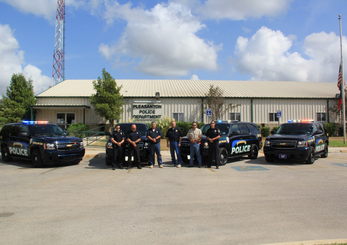 The Pleasanton Police Department gathered at the station to pay respect to fallen Officer Goforth on September 4.