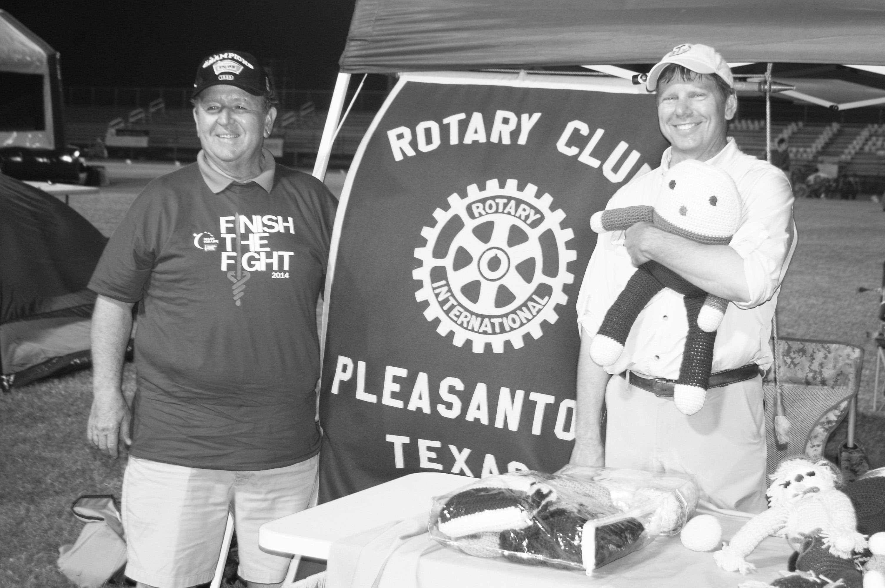 Craig Dowdy and Bobby Kinsel participated in last year's Relay For Life representing the Pleasanton Rotary Club.