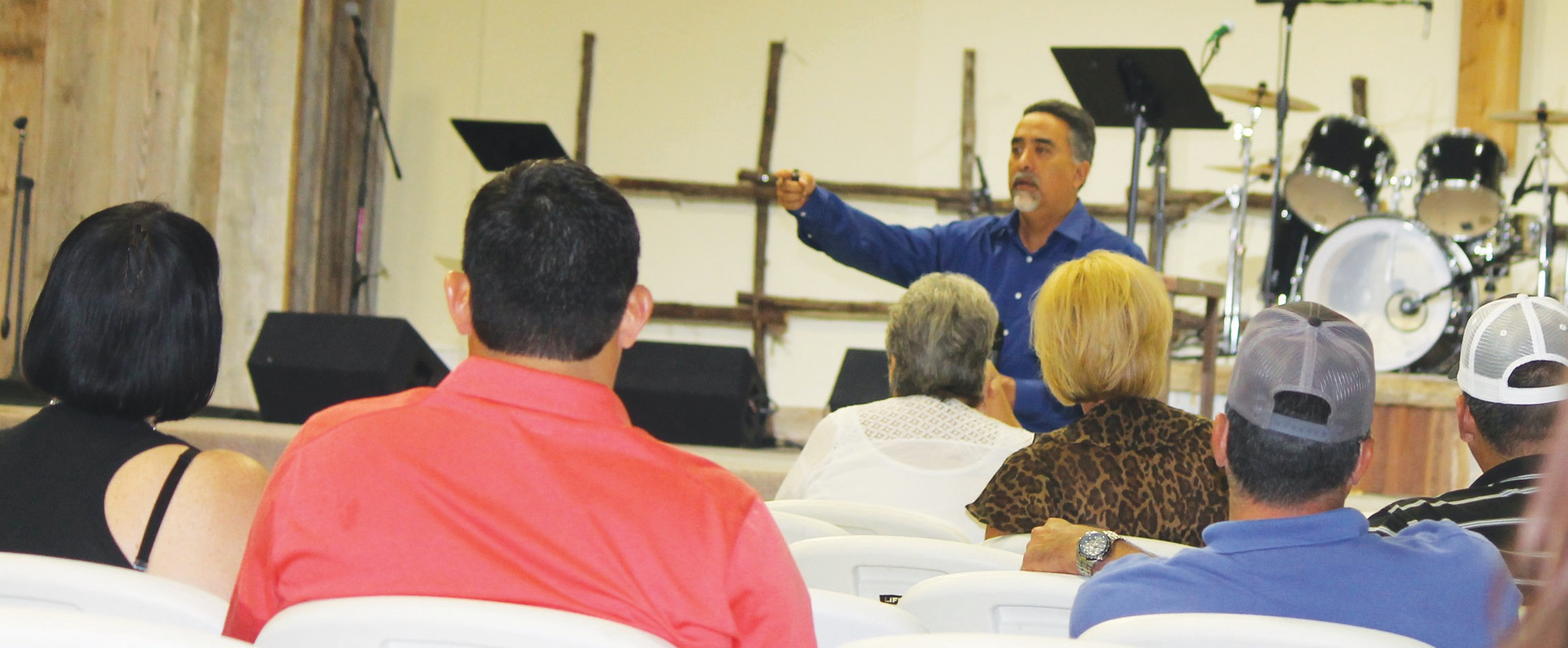 """Lee Fernandez, RN, LP, Customer Relations Representative with AirLIFE was the keynote speaker at the meeting of STEPS, """"A Safer Texas One STEP Closer"""", at Cowboy Fellowship Church on Thursday, September 17."""