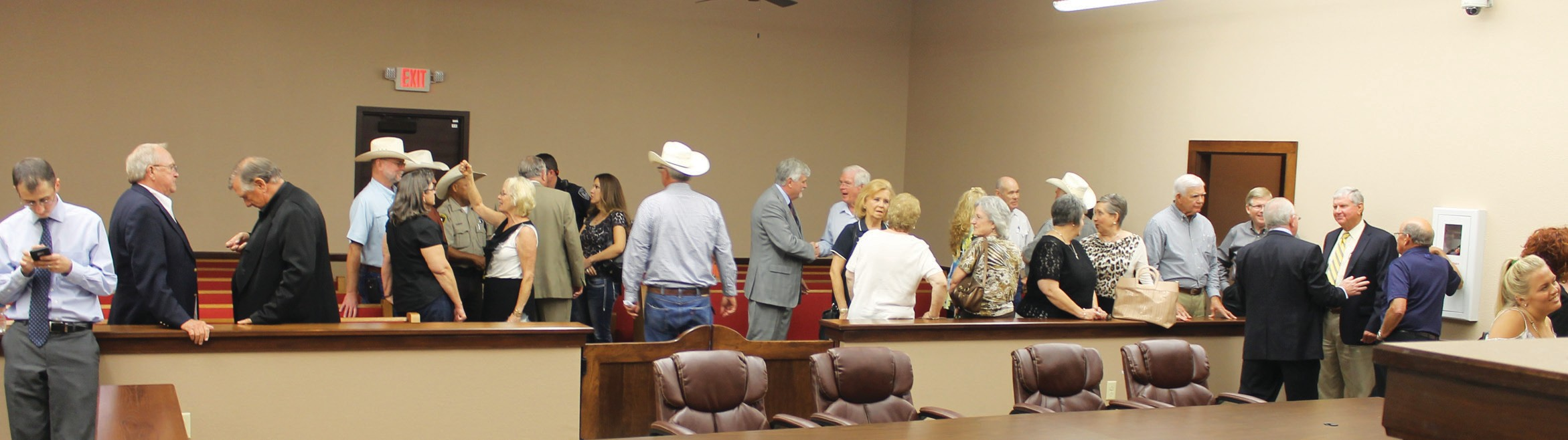 Visitors during open house inside the new Lytle Precinct 2 Justice of the Peace building on Thursday, September 10.