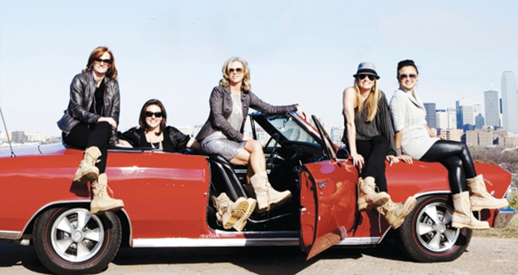 MEET THE BOOT GIRLS: (L to R) Ginger Giles, Leigh Ann Ranslem, Sherri Reuland, Heather Fordham, and Mariae Bui. The Boot Campaign was started in 2009 by five women from Texas known as the Original Boot Girls, and began as a fun photo op and turned into a national movement funding more than $2 million into the military community each year. Proceeds from retail sales and events, donations and corporate sponsorships allow the Boot Campaign to further their mission. As exceptional stewards of these funds, these ladies are proud to maintain complete financial transparency.