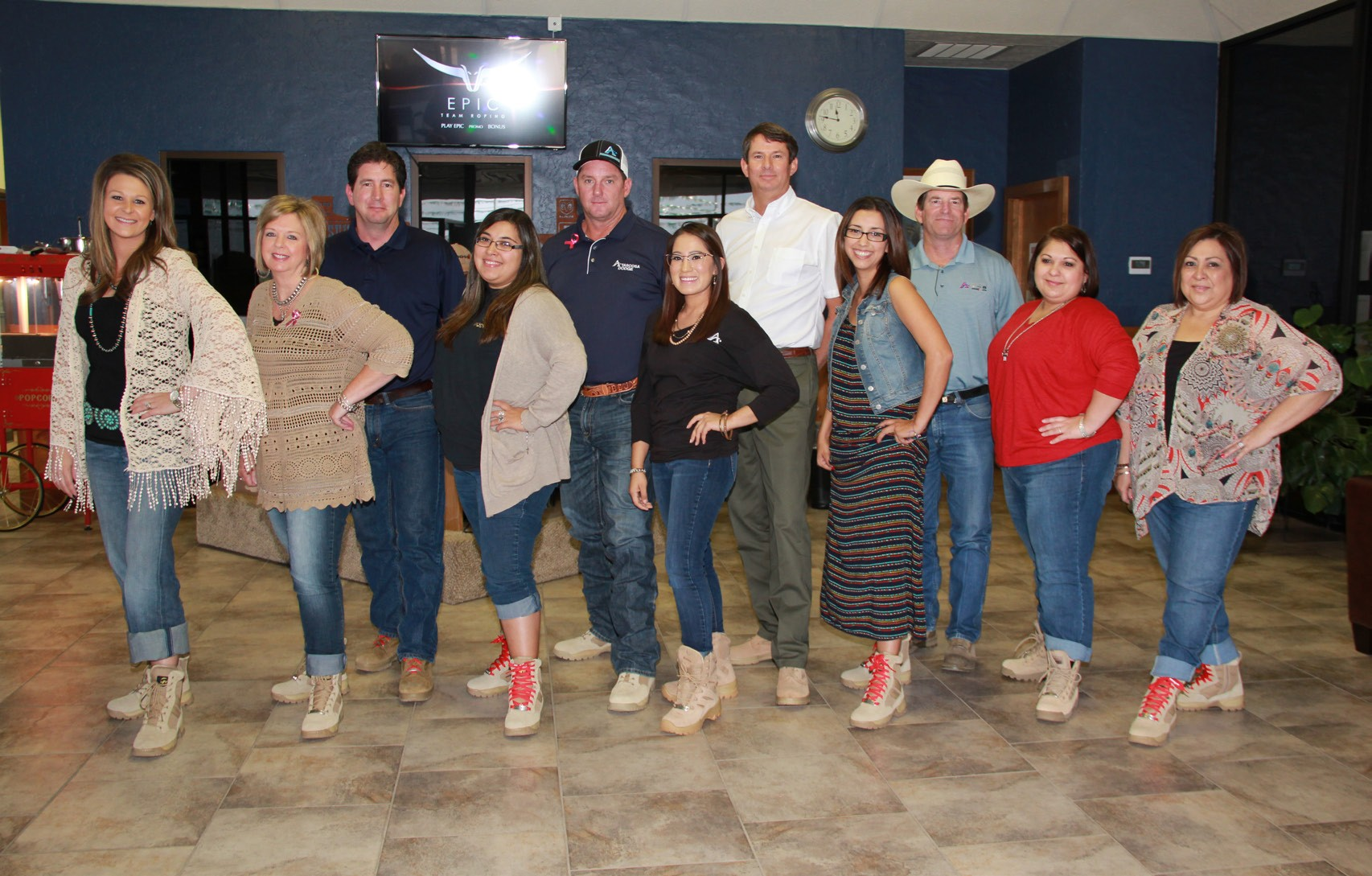 wearing their boots for support pleasanton express pleasanton express
