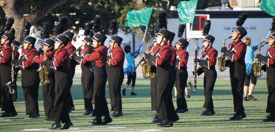 """The Jourdanton Indian Band, Pleasanton Eagle Band, and Poteet Aggie Band each returned from the Region XI Marching Contest with a Division I rating, the highest that can be earned. The Jourdanton Indian Band's competition show was entitled """"Western Side Story."""" The Mighty Eagle Band performs a selection from """"Voodoo."""" Members of the Poteet Aggie Band perform their program """"Carried Away"""" at marching contest."""