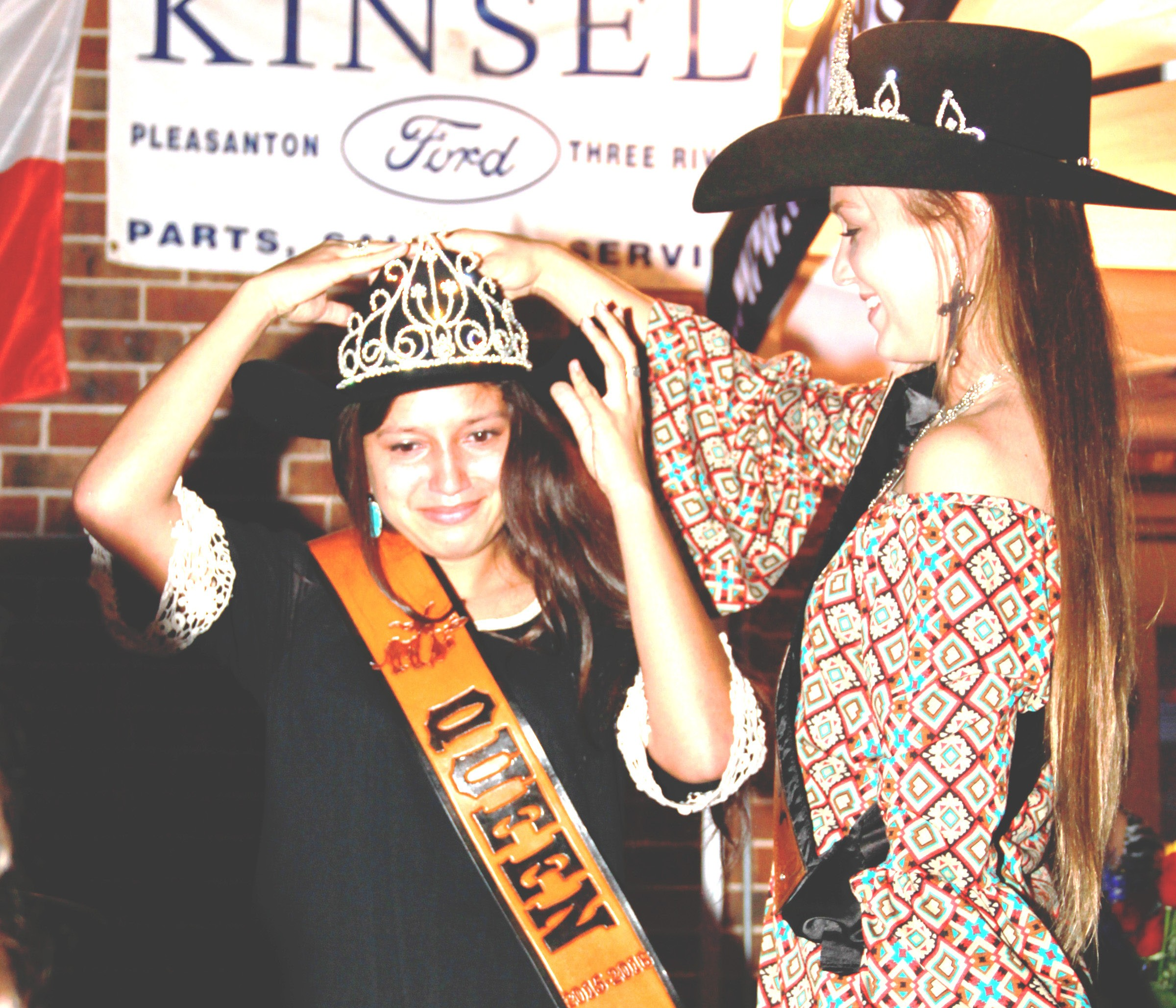 Cassidy Fernandez was crowned the 50th Cowboy Homecoming Queen by last year's queen Jordyn Olle. The coronation took place in misting weather at Kadobe's restaurant patio on Thursday, October 22.