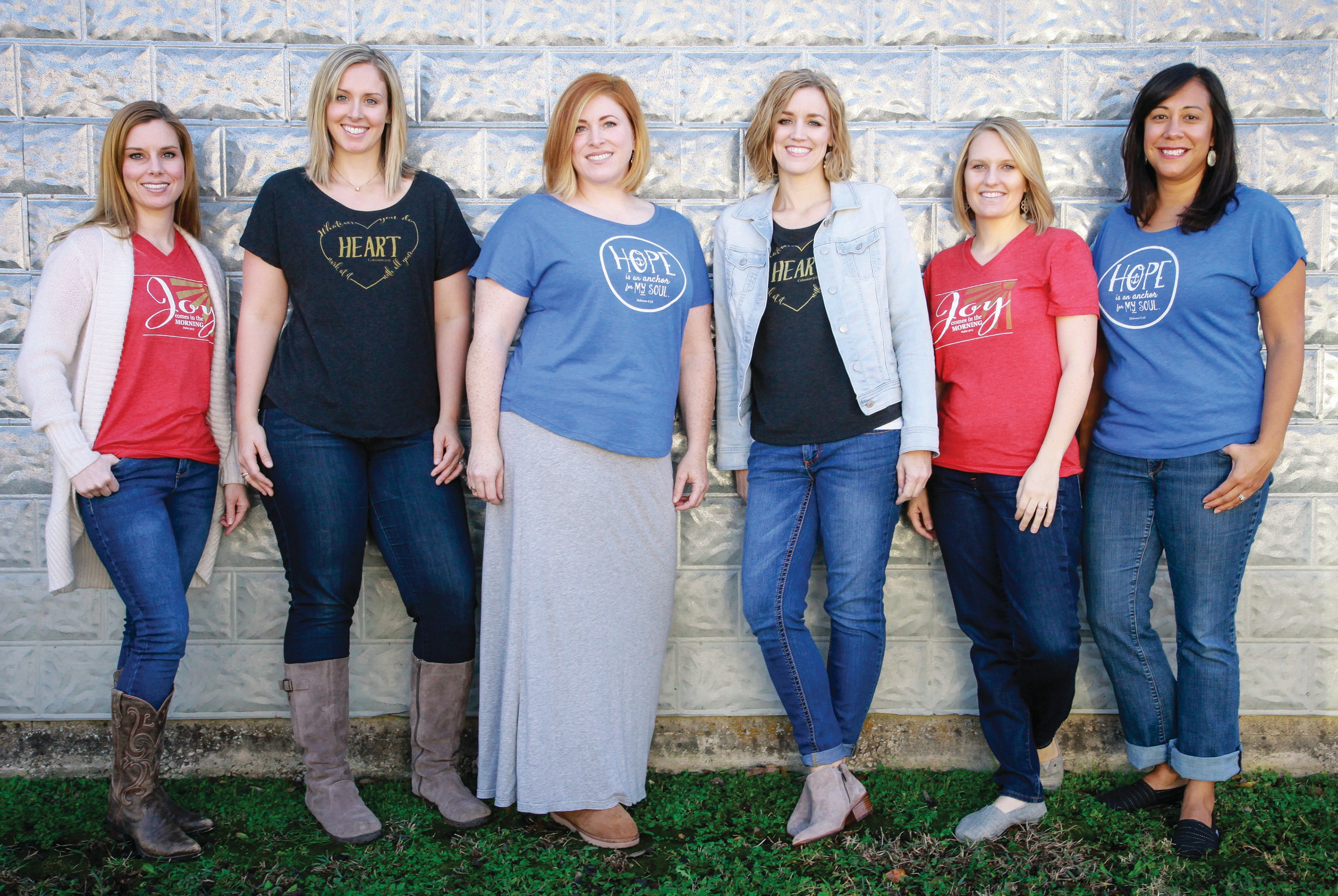 Heart Work Tees brings joy and laughter into women's daily service via T-shirts. Some of the T-shirts are silly, and some are encouraging.