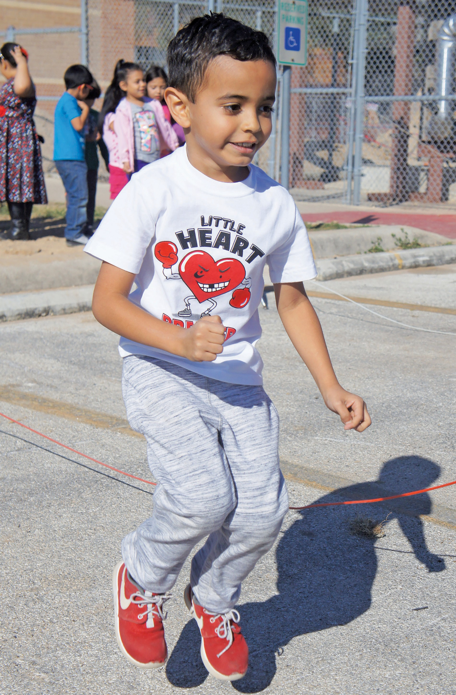 Pleasanton Primary student Elijah Velasquez was among those participating in Jump Rope for Heart activities on Friday, Feb. 12. The youngster is the son of Amanda and Kevin Velasquez and is in Erica Treviño's kindergarten class.