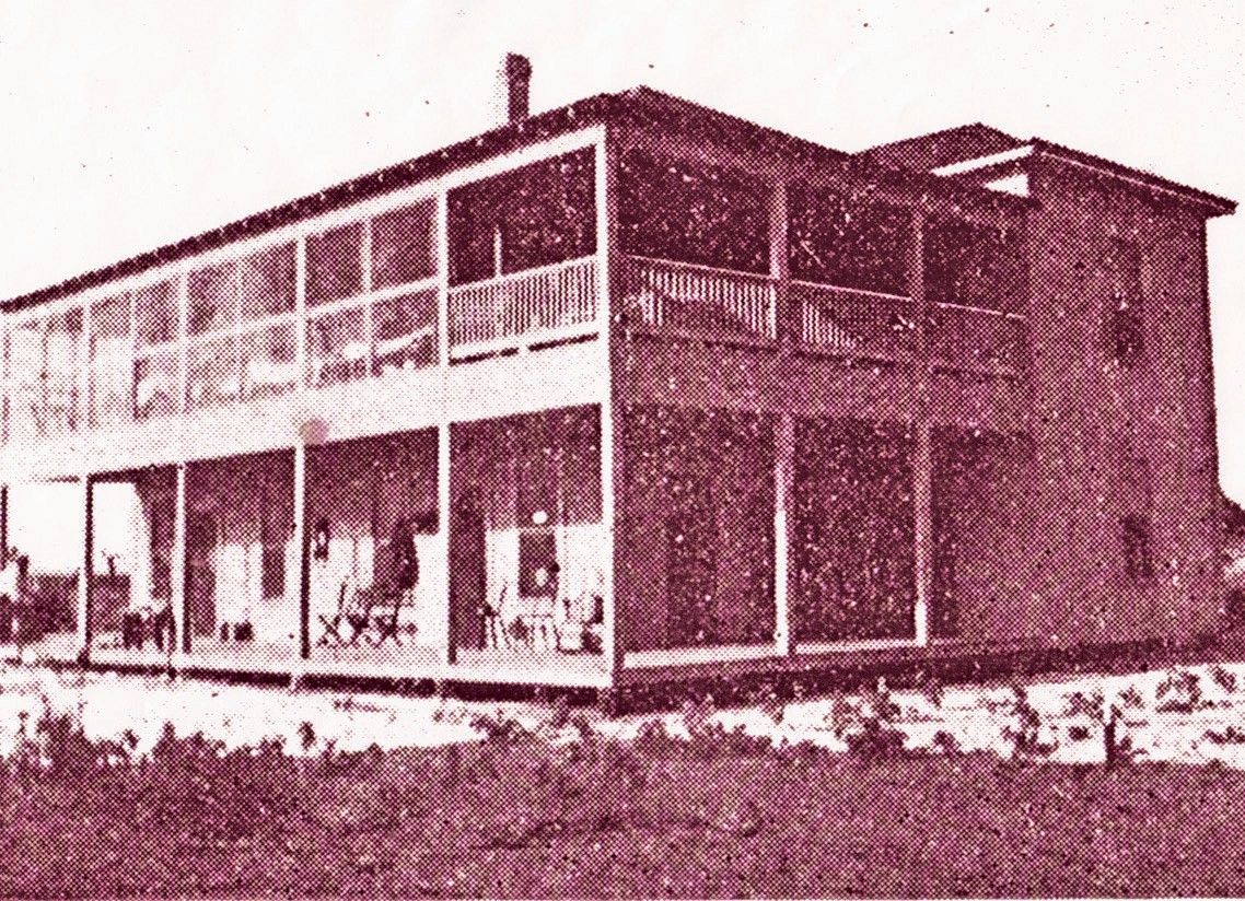 The Page Hotel on First Street in North Pleasanton, built in 1913 -original owners were J. K. and Jennie Page. Hoboes would be fed at the hotel.