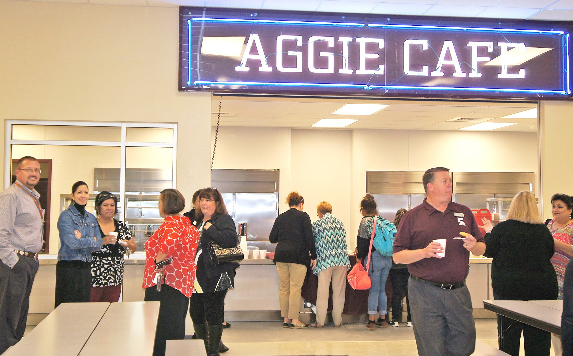 Poteet ISD Administration, staff, students and their families had the opportunity to see the new cafeteria and gym at Poteet Junior High, on March 9.