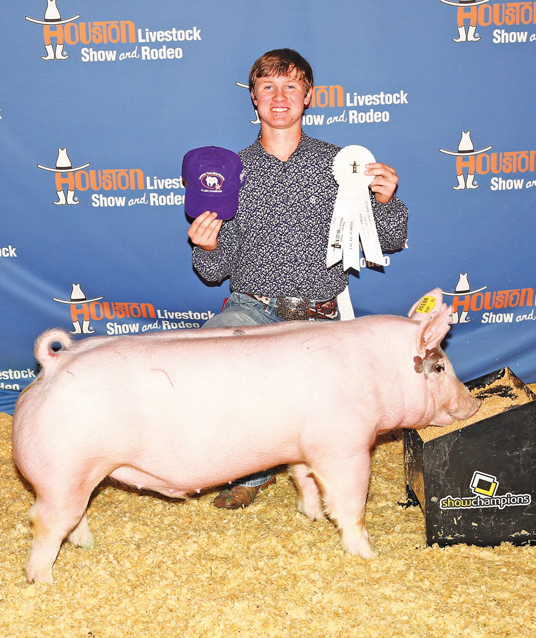 Tyler Pearson also placed 3rd in his cross class at the Houston Livestock Show.