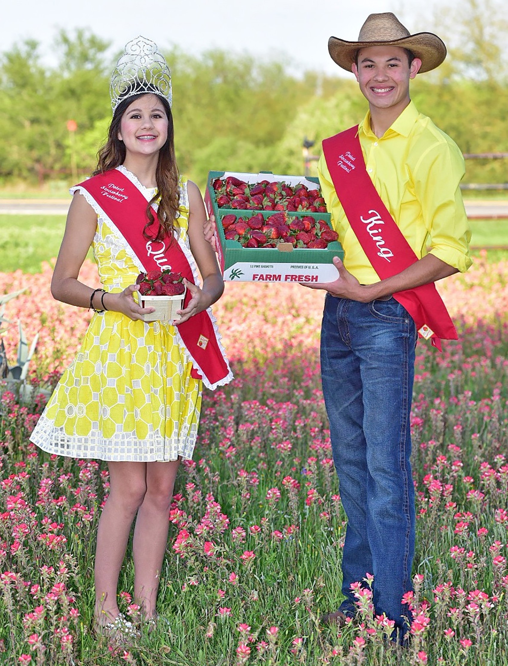 Inviting you to the 69th annual Poteet Strawberry Festival are Queen Isabella Wiederhold and King Donovan Roanin Garcia II. The weekend will feature three days of fun for the entire family. The event is slated for April 8, 9 and 10 and will feature a wide array of entertainment for the entire family. This year's schedule of headliners includes: Friday- Eddie Money, David Lee Garza and Raymond Orta; Saturday- Tracy Byrd, Pesado and Kevin Fowler; Sunday- Josh Wilson, Jason Gray, JJ Heller, Rick Treviño, Aaron Watson and La Maquinaria Norteño.