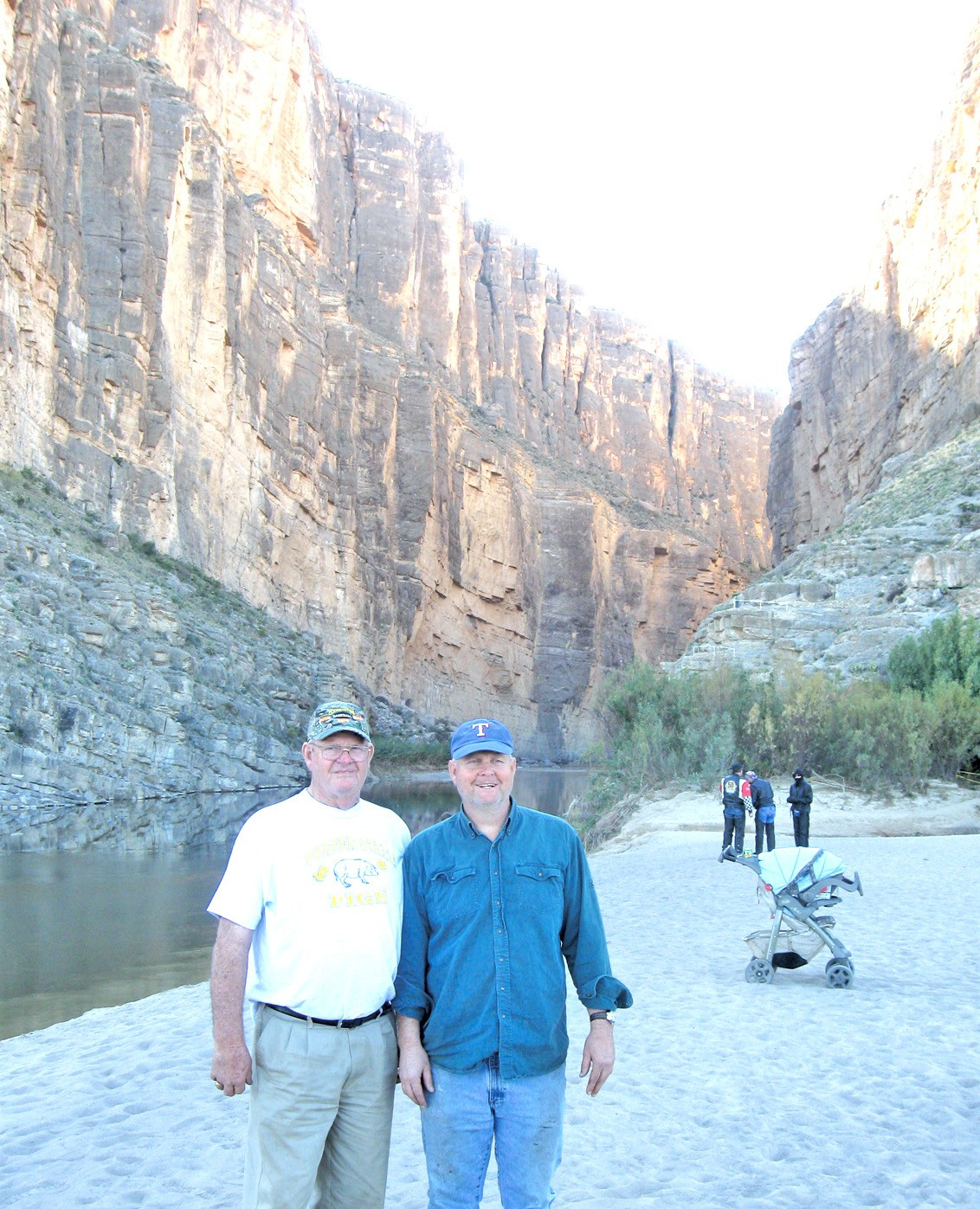 Dad and son, Norman, Sr. and Norman, Jr. in Santa Helena Canyon in the Big Bend.