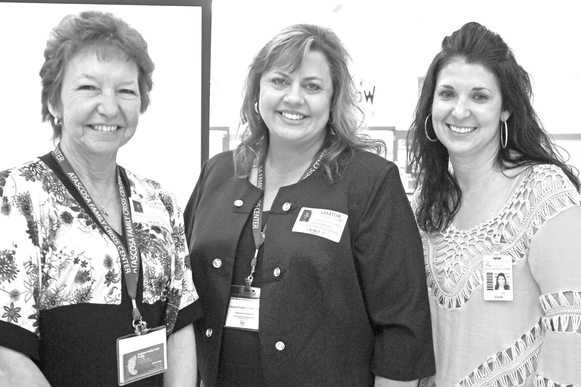 "Pictured at the session, ""A Parent's Guide to Bullying"" at Pleasanton Primary are: Atascosa Family Crisis Center Executive Director Donna Fisher, Atascosa Family Crisis Center Outreach Advocate Shawnene Edmondson and Pleasanton Primary Counselor Jill Clark."