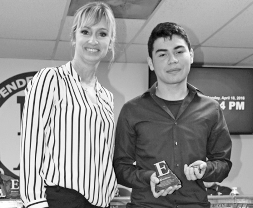 Max Orta, was accepted out of 25 students across the area into an internship program through UT Health Science Center. He was recognized by Principal Akers in the April 2016 Poteet ISD school board meeting.