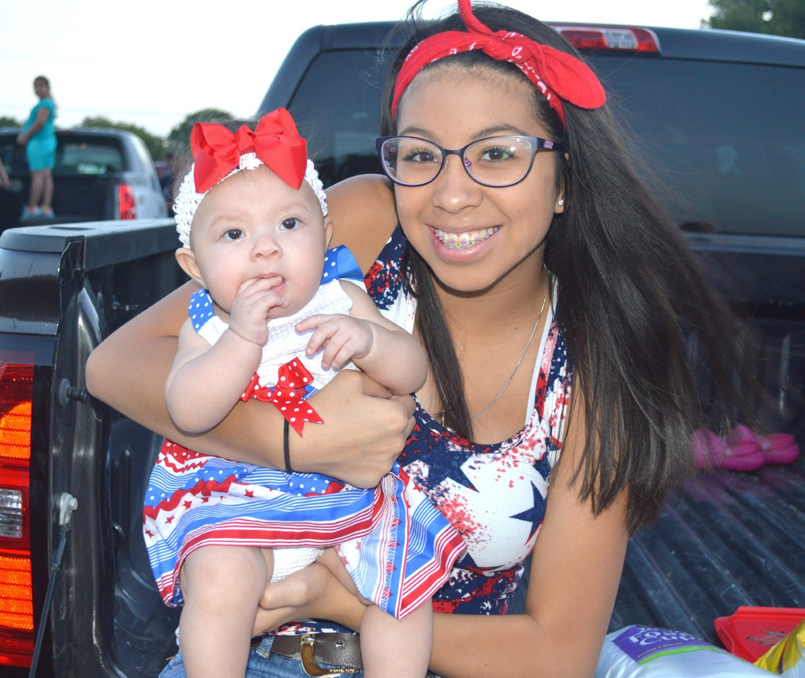 The fun began at 5 p.m. at the Jourdanton City Park on July 4th where Sofia and Alexis Carrasco (cousins) and Ryanne Popham (right) enjoyed all the festivities before the fireworks later that evening.
